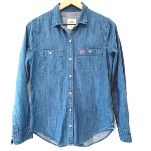 Hollister chambray button up shirt Size Small